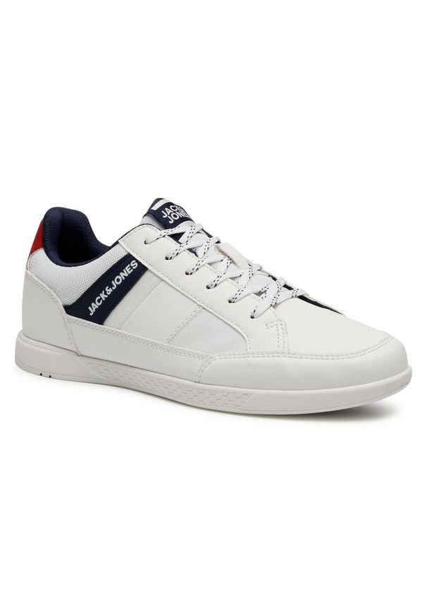 Jack & Jones - Sneakersy JACK&JONES - Jfwbyson 12181823 Bright White. Okazja: na co dzień. Kolor: biały. Materiał: skóra ekologiczna, materiał. Szerokość cholewki: normalna. Styl: casual