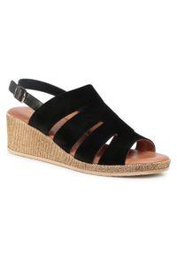 Czarne sandały Sergio Bardi casualowe, na co dzień