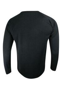 Czarny t-shirt Stedman długi, sportowy, z długim rękawem