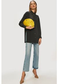 Beatrice B - Koszula. Okazja: na co dzień. Kolor: czarny. Materiał: tkanina. Wzór: gładki. Styl: casual