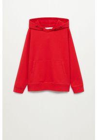 Czerwona bluza Mango Kids z kapturem