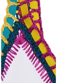 KIINI - Top od bikini Yaz. Kolor: biały. Materiał: poliester, materiał, nylon. Wzór: kolorowy