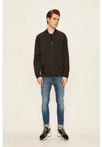Czarna bluza rozpinana adidas Originals raglanowy rękaw, bez kaptura
