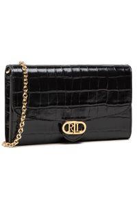 Czarna torebka Lauren Ralph Lauren skórzana