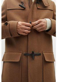 Brązowy płaszcz Mango Man z kapturem, na co dzień, casualowy #8