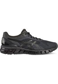 Czarne buty do biegania Asics w kolorowe wzory, z cholewką