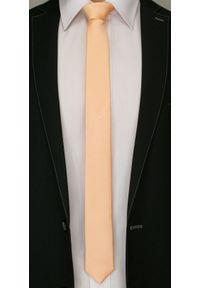 Pomarańczowy krawat Angelo di Monti
