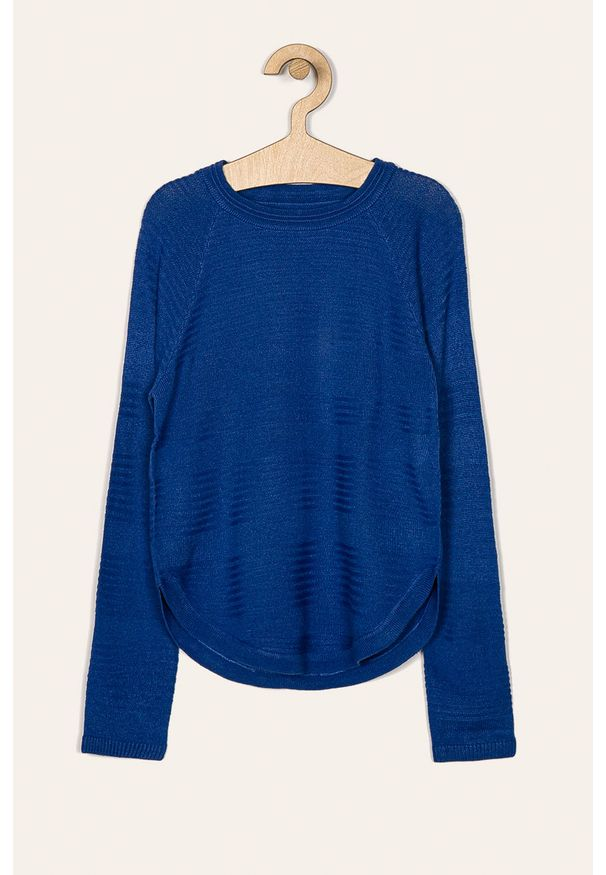 Niebieski sweter Kids Only casualowy, z okrągłym kołnierzem, raglanowy rękaw