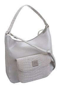 Torebka damska srebrna Monnari BAG1200-019. Kolor: srebrny. Wzór: gładki. Materiał: skórzane