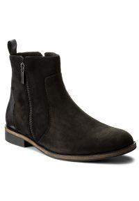 Czarne buty zimowe Gino Rossi z cholewką