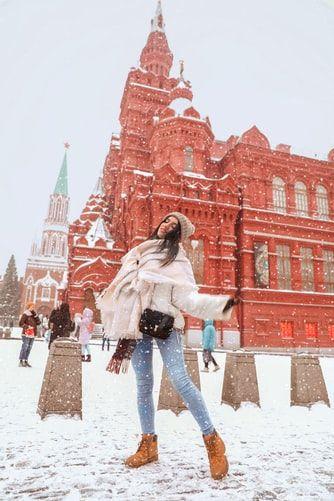 dziewczyna w traperach zimowych
