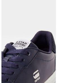 Czarne sneakersy G-Star RAW z cholewką, z okrągłym noskiem, na sznurówki