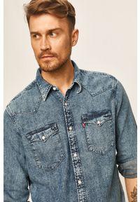 Niebieska koszula Levi's® z klasycznym kołnierzykiem, biznesowa