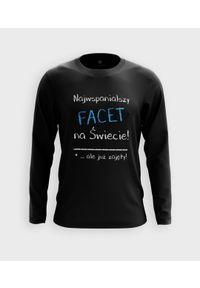 MegaKoszulki - Koszulka męska z dł. rękawem Najwspanialszy facet. Materiał: bawełna