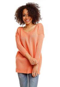 Sweter casualowy, długi, na co dzień