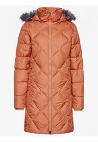 Pomarańczowa kurtka puchowa columbia