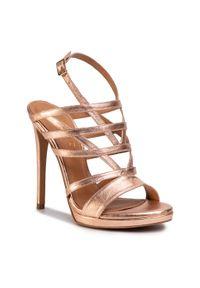 Złote sandały Eva Minge wizytowe