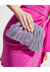 BENEDETTA BRUZZICHES - Liliowa torebka z kryształów Venus Small. Kolor: różowy, fioletowy, wielokolorowy. Wzór: aplikacja. Rodzaj torebki: do ręki