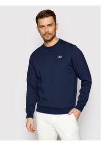 Lacoste Bluza SH9604 Granatowy Regular Fit. Kolor: niebieski
