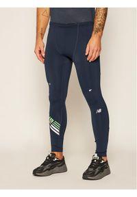 Niebieskie legginsy sportowe New Balance do biegania