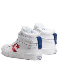 Białe półbuty Converse na rzepy, z cholewką