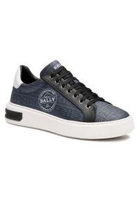 Niebieskie sneakersy Bally na co dzień, z cholewką