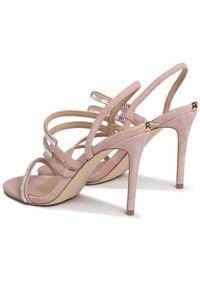 Różowe sandały Guess z aplikacjami, eleganckie