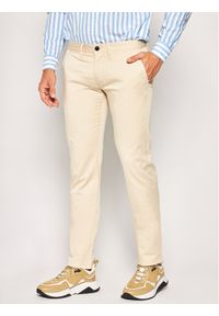 Beżowe spodnie Emporio Armani