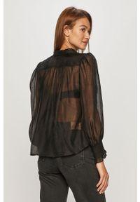 Czarna koszula AllSaints na co dzień, długa, casualowa, z długim rękawem