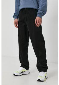 Dr. Denim - Spodnie. Okazja: na co dzień. Kolor: czarny. Materiał: denim. Wzór: gładki. Styl: casual