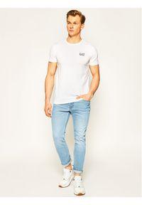 Biały t-shirt EA7 Emporio Armani