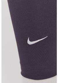 Legginsy Nike Sportswear gładkie, z podwyższonym stanem
