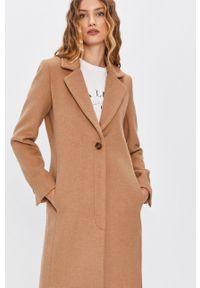 Beżowy płaszcz Answear Lab wakacyjny, bez kaptura
