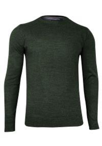 Zielony sweter Brave Soul z okrągłym kołnierzem, na spotkanie biznesowe, casualowy