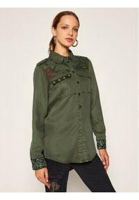 Desigual Koszula Camoflow 20WWCN01 Zielony Regular Fit. Kolor: zielony