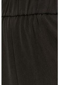 Czarne spodnie materiałowe only z podwyższonym stanem, gładkie