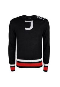 Sweter Roberto Cavalli na co dzień, z okrągłym kołnierzem, z nadrukiem, casualowy #1