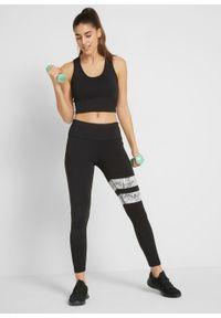 Top sportowy + legginsy funkcyjne długie (2 części), Level 2 bonprix czarny. Kolor: czarny. Długość: długie. Styl: sportowy