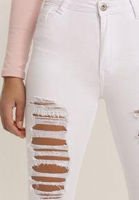 Białe spodnie skinny Renee