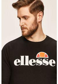 Czarna bluza nierozpinana Ellesse bez kaptura, casualowa, na co dzień, z nadrukiem