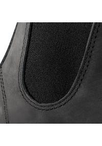 Czarne botki Blundstone na obcasie, na średnim obcasie #7