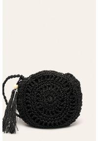 Czarna torba plażowa ANSWEAR mała, na ramię