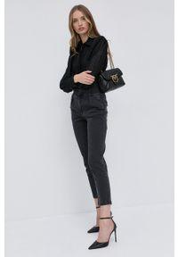 Silvian Heach - Koszula. Kolor: czarny. Materiał: tkanina. Długość rękawa: długi rękaw. Długość: długie