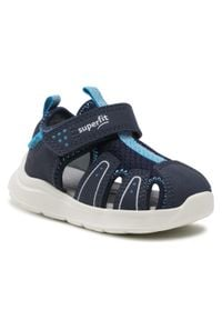 Superfit - Sandały SUPERFIT - 1-000478-8000 M Blau/Blau. Kolor: niebieski. Materiał: materiał, skóra