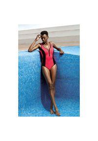 Strój kąpielowy damski jednoczęściowy Feba F83A. Materiał: elastan, materiał, poliamid. Wzór: ażurowy
