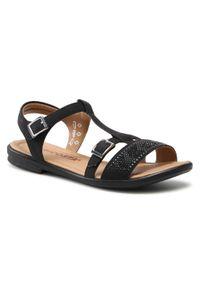 Czarne sandały Ricosta