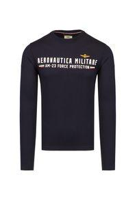 Aeronautica Militare - T-shirt AERONAUTICA MILITARE. Materiał: bawełna, elastan. Długość rękawa: długi rękaw. Długość: długie. Wzór: nadruk. Styl: klasyczny