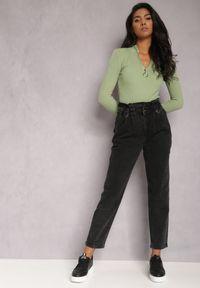 Renee - Czarne Jeansy Mom Fit Aldysus. Stan: podwyższony. Kolor: czarny