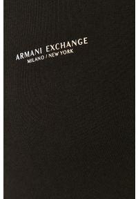 Czarna bluza rozpinana Armani Exchange z kapturem, na co dzień