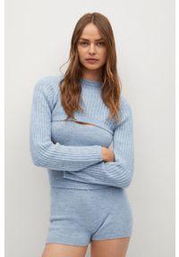 mango - Mango - Sweter Neusi. Okazja: na co dzień. Kolor: niebieski. Długość rękawa: długi rękaw. Długość: długie. Styl: casual